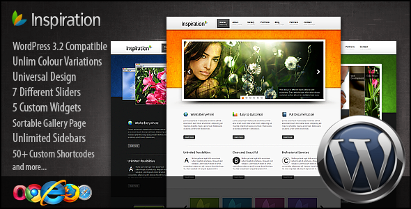 Live Preview of Inspiration Premium Wordpress Theme