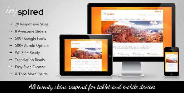 Live Preview of Inspired Responsive Business WordPress Theme
