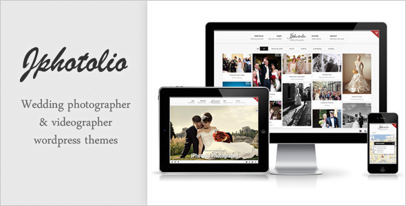 Live Preview of JPhotolio: Responsive Wedding Photography WP Theme