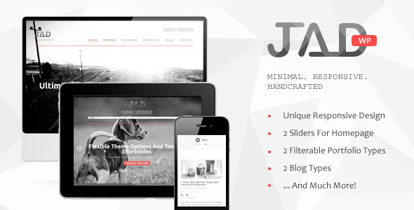 Live Preview of Jad - Creative Wordpress Theme