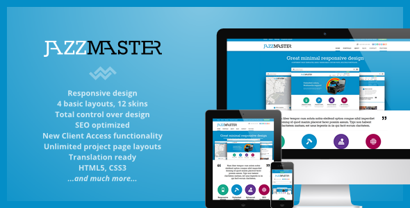 Live Preview of JazzMaster - Responsive Business WordPress Theme