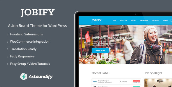 Live Preview of Jobify - Job Board WordPress Theme