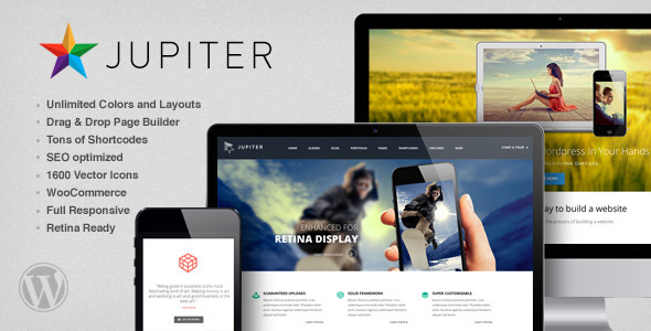 Live Preview of Jupiter - Multi-Purpose Responsive Theme