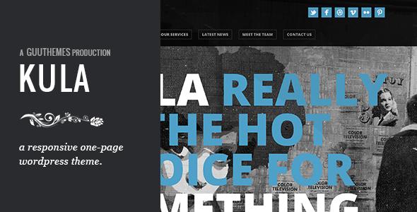 Live Preview of KULA - Responsive HTML5 One Page WordPress Theme