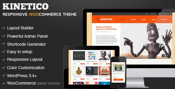 Live Preview of Kinetico - Responsive WordPress E-Commerce