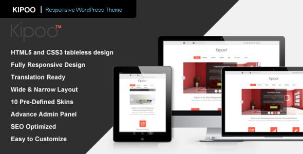 Live Preview of Kipoo - Responsive Business WordPress Theme