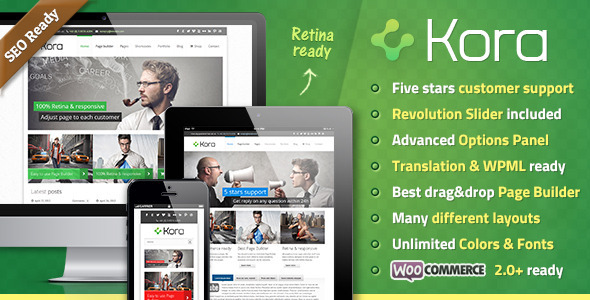 Live Preview of Kora Premium WordPress Theme
