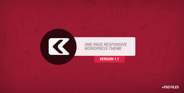 Live Preview of Kronos - One Page Responsive Wordpress Theme