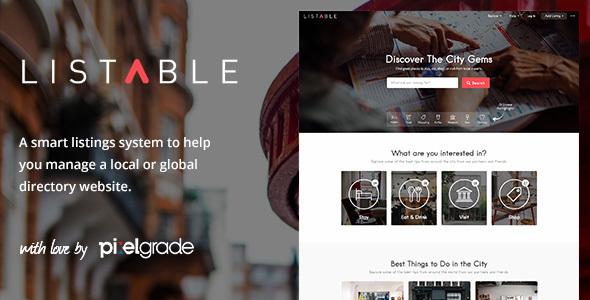 Live Preview of Listables - un répertoire bienvenus WordPress Thème