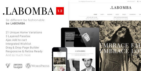 Live Preview of Labomba - Responsive Multipurpose Wordpress Theme