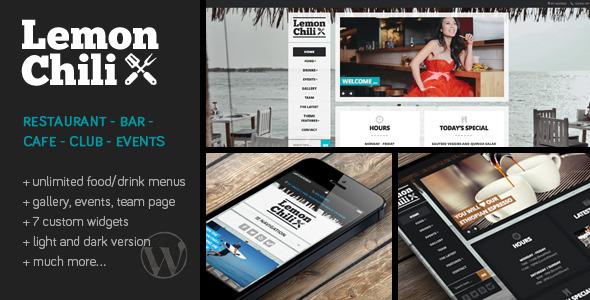 Live Preview of LemonChili - a Premium Restaurant WordPress Theme