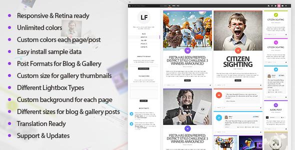 Live Preview of LiquidFolio - Portfolio Premium WordPress Theme