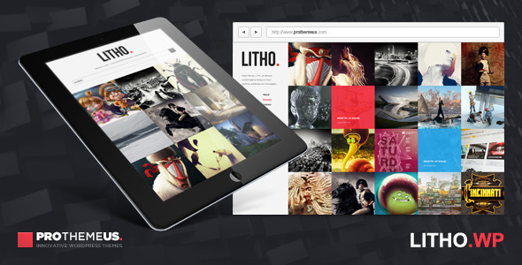 Live Preview of Litho | WordPress Theme for Visual Enthusiasts