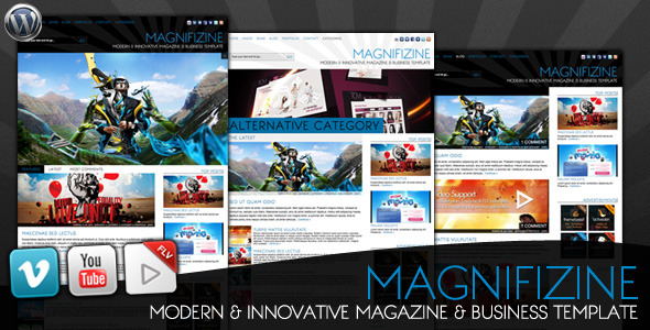 Live Preview of Magnifizine - Magazine & Business WordPress Theme