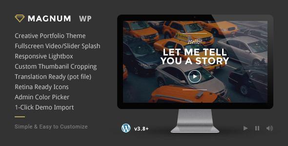 Live Preview of Magnum - Creative Portfolio WordPress Theme