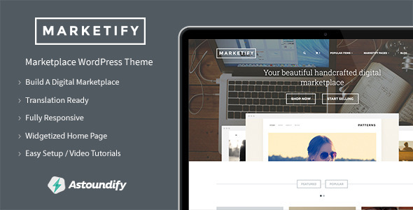 Live Preview of Marketify - Digital Marketplace WordPress Theme