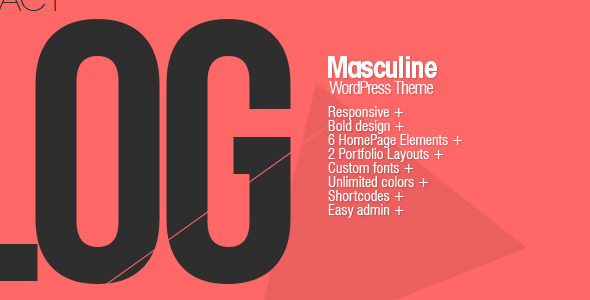 Live Preview of Masculine - Responsive WordPress Theme