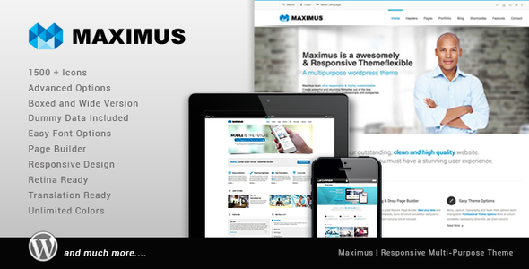 Live Preview of Maximus - Responsive Multi-Purpose Theme