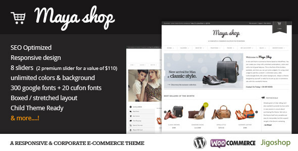 Live Preview of MayaShop - A Flexible Responsive e-Commerce Theme