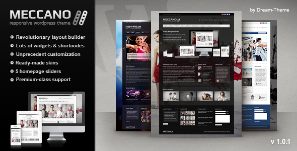 Live Preview of Meccano – Responsive Corporate WordPress Theme