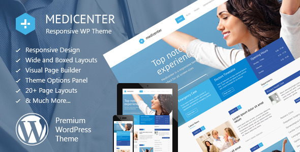 Live Preview of MediCenter - Responsive Medical WordPress Theme