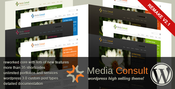 Live Preview of Media Consult - Business Wordpress Theme