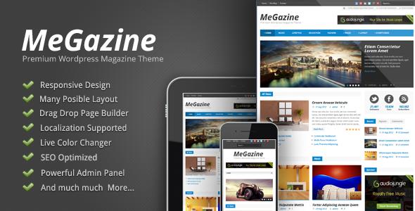 Live Preview of Megazine - Responsive WordPress Theme