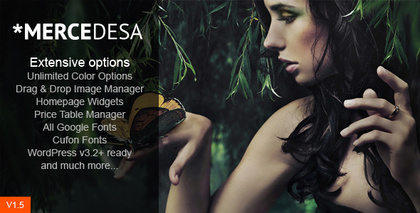 Live Preview of Mercedesa - Business & Portfolio WordPress Theme