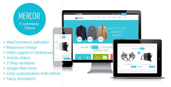 Live Preview of Mercor - Responsive WordPress WooCommerce Theme