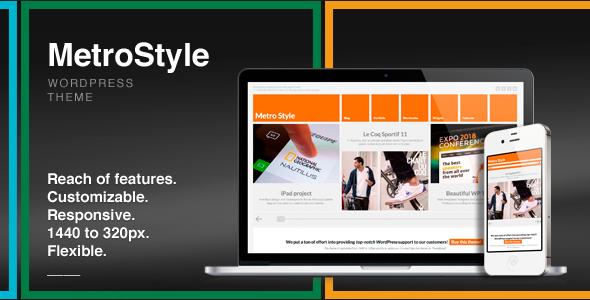 Live Preview of MetroStyle Responsive All Purpose Wordpress Theme