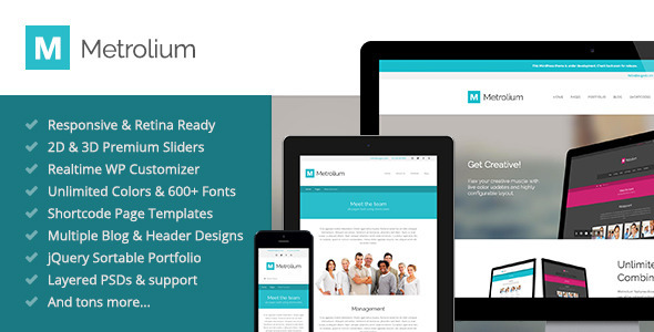 Live Preview of Metrolium - Responsive Multi-Purpose WP Theme
