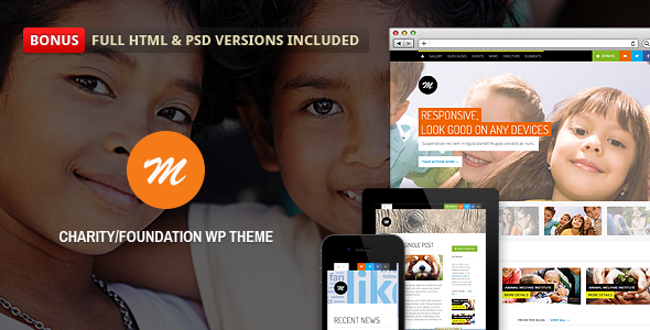 Live Preview of Mission - Responsive WP Theme For Charity