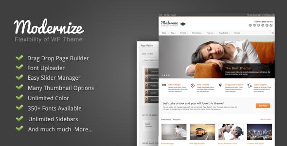 Live Preview of Modernize - Flexibility of Wordpress