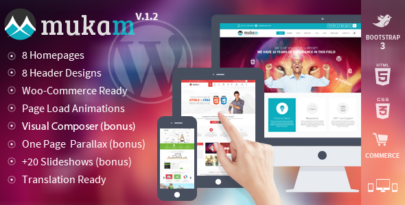 Live Preview of Mukam - Limitless Multipurpose Wordpress Theme