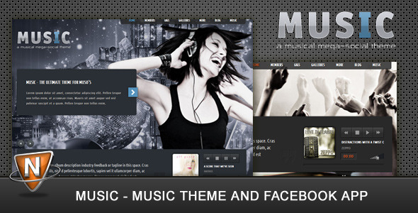 Live Preview of Music: Musicians theme & Facebook app
