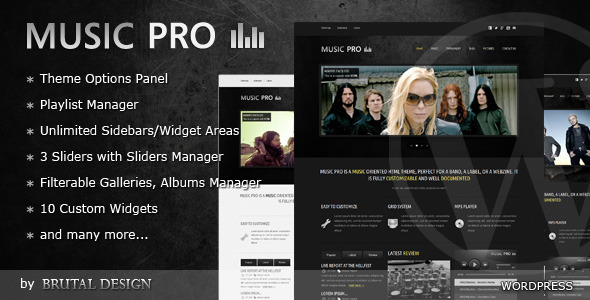 Live Preview of Music Pro - Music Oriented Wordpress Theme