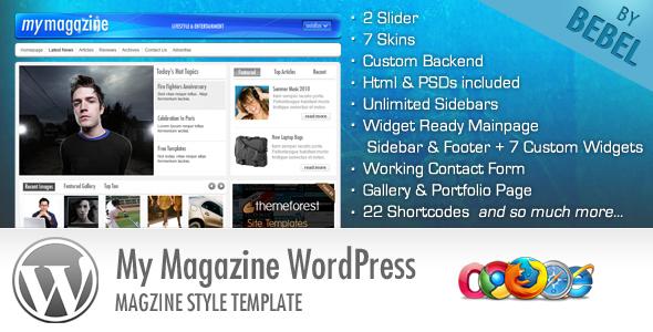 Live Preview of MyMagazine - Stylish Portal News Site Wordpress