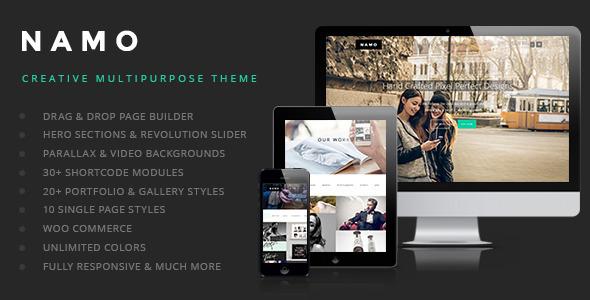 Live Preview of NAMO - Creative Multi-Purpose Wordpress Theme