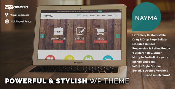 Live Preview of Nayma - Responsive Multi-Purpose WordPress Theme