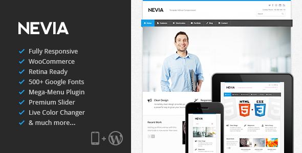 Live Preview of Nevia - Responsive WordPress Theme