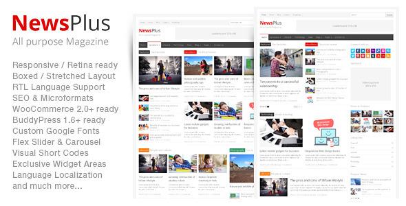 Live Preview of NewsPlus - Magazine/Editorial WordPress Theme