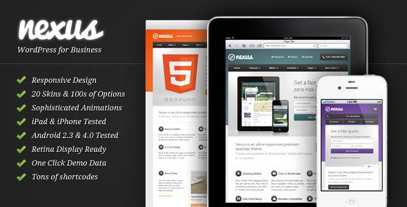 Live Preview of Nexus - Responsive Business WordPress Theme