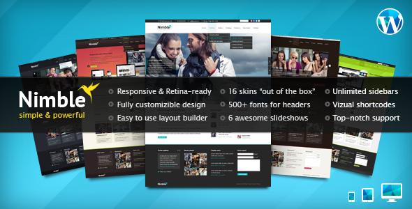 Live Preview of Nimble — Multipurpose Retina Ready WordPress Theme