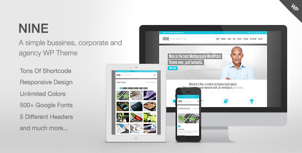 Live Preview of Nine - Responsive Multi-Purpose Theme