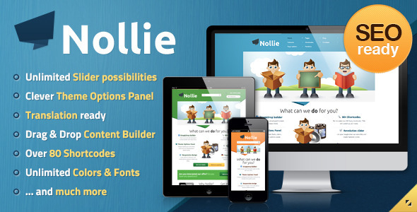 Live Preview of Nollie Premium WordPress Theme