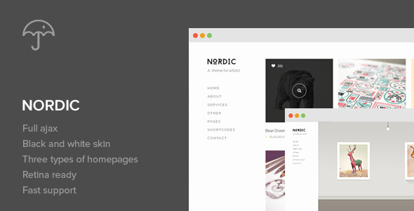 Live Preview of Nordic - Retina Responsive WordPress Theme