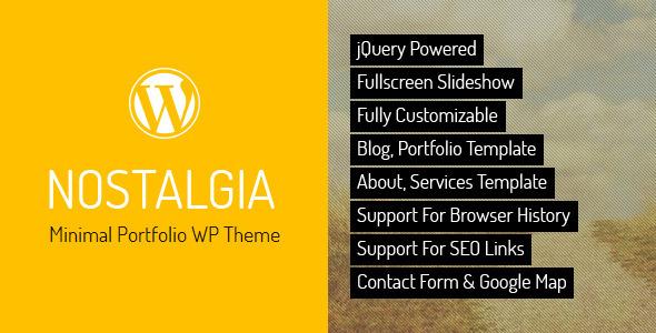 Live Preview of Nostalgia - Portfolio WordPress Theme