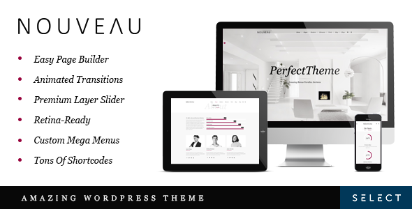 Live Preview of Nouveau - Multi-Purpose Retina WordPress Theme