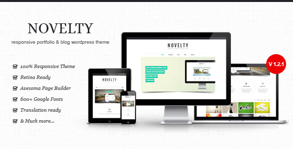 Live Preview of Novelty - Retina Ready Responsive Wordpress  Theme