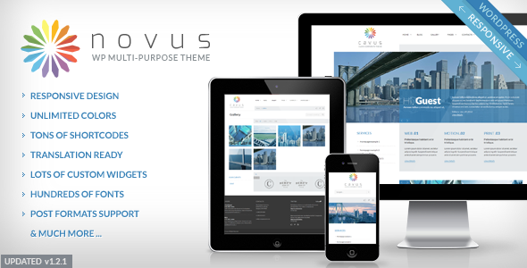 Live Preview of Novus Multipurpose Corporate Wordpress Theme